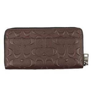 NWT Coach Emb. Signature Leather Wallet